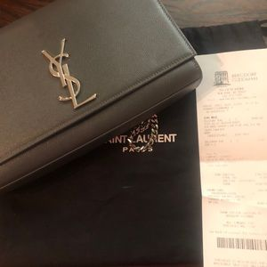 Saint Laurent Kate Grain Leather Flap Bag